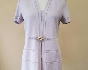 St. John Collection Lavender Sweater Set
