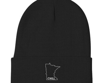 Minnesota Chill - Funny MN Cold Winter Novelty Gift Knit Beanie