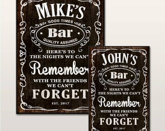 Personalised Bar Signs