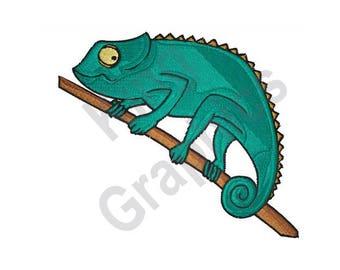 Chameleon - Machine Embroidery Design, Lizard