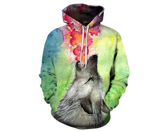 Wolf Hoodie, Wolf, Wolf Hoodies, Animal Prints, Animal Hoodie, Animal Hoodies, Wolves, Hoodie Wolf, Hoodie, 3d Hoodie, 3d Hoodies - Style 19