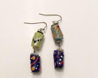 clay dangle earrings