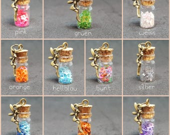 Necklace with bottle *Fairy Dust*