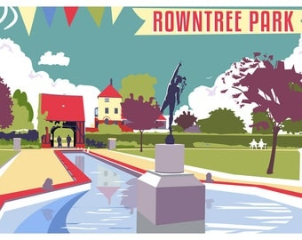 """Rowntree Park Greeting Card 7""""x5"""""""