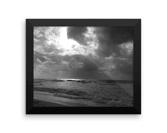 Sunlight after the storm framed photo