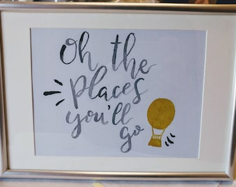 Oh the places you'll go - wall art