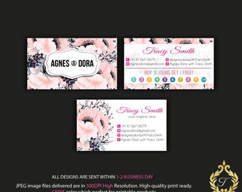 Agnes And Dora Business Card, Personalized Agnes Dora Business Card, Agnes Punch Card, Agnes And Dora Marketing, Digital file AG04