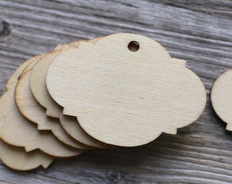 Wood Tags Hanging Drop Birthday Party Rustic Little Gift Table Decor blank gift tags