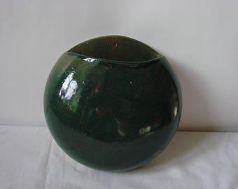Stoneware wall vase