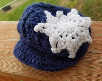 Navy snowflake toddler hat
