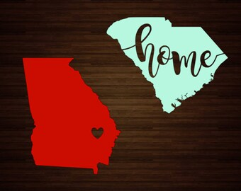 Home State Decal | State Decal | State Heart Decal | Home Decal | Car Decal | Cup Decal | Home Sweet Home | Vinyl Decal | Hometown | States