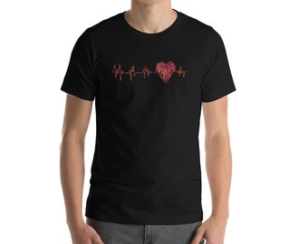 Valentines Day Shirt - Heartbeat Shirt - Red Heart Shirt - Love Shirt - I Love You Shirt - Boys Valentine Shirt - Bachelorette Shirts - EKG