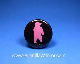 Bear LGBT (1.25 inch pinback button)