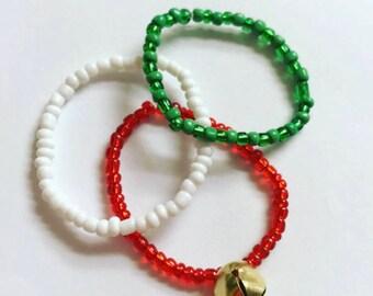 Christmas bracelet, kids bracelet, jewelry, arm candy, stackable bracelet, Christmas jewelry, kids jewelry, bracelet, winter bracelet