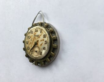 Clock and cog pendant