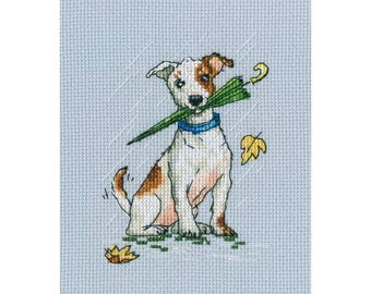 "RTO counted cross-stitch kit ""Running on puddles!"", C300"