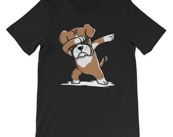 Cute Boxer Dog Dabbing T-Shirt Funny Dab Dance Gift Shirt