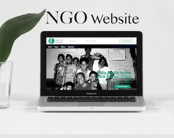 NGO Website - Donation website with custom domain - Custom design website