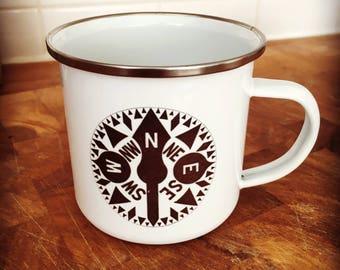 The Rob Roy Compass - enamel mug