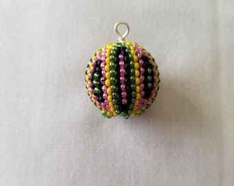 Beaded bead Carnival pendant