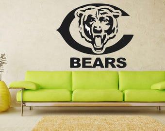 Chicago Bears Decal Room Garage Man Cave Decor Sports Fans Vinyl Decal  Sticker Part 44