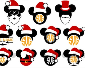 Christmas Mickey and Minnie Ears
