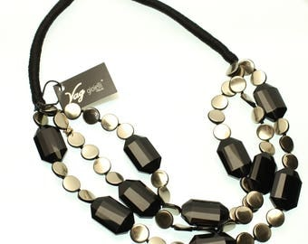 Wooden and Onyx necklace