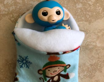 Fingerlings Finger Monkey snow monkey sleeping bad accessory
