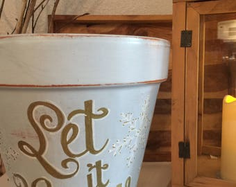 Glamour Pots: Attractive Personalized Flower Containers, Terra Cotta, Hand Painted, Chalk Markers, Enamel Seal, Indoor/Outdoor Use