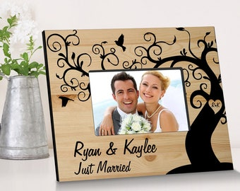 Personalized Winding Down Together Wooden Picture Frame - Wedding Photo Frames - Anniversary Picture Frames - Wedding Gifts - Anniversaries