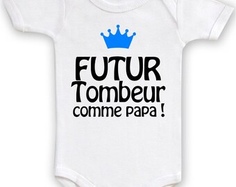 Bodysuit funny future dad Stud