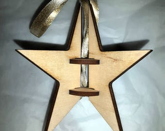 4 Point Star Ornament