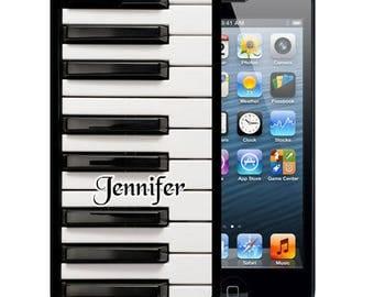 Personalized Rubber Case For iPhone X, 8, 8 plus, 7, 7 plus, 6s, 6s plus, 5, 5s, 5c, SE - Piano Keys Music