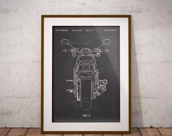Harley Davidson Motorcycle Patent, Motor Cycle Patent Print, Harley Patent Art Print, Home Decor, Harley Motorbike Wall Art,Garage, IAP0154