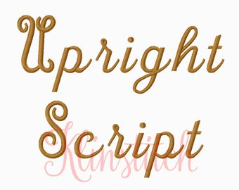 50% Sale!! Up Right Script Embroidery Fonts 3 Sizes Fonts BX Fonts Embroidery Designs PES Fonts Alphabets - Instant Download