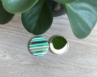 Mirror - Features green & gold