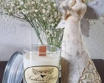 12 oz wood wick soy candle