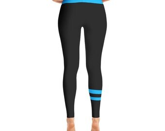 Blue & Black Leggings