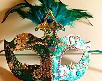 Le Cirque, Mardi Gras , party mask, Halloween mask, cosplay, silver gilt mask, rhiestone mask, teal mask, sequined mask, princess mask