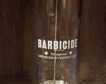 Vintage Barbicide Large Disinfectant Jar