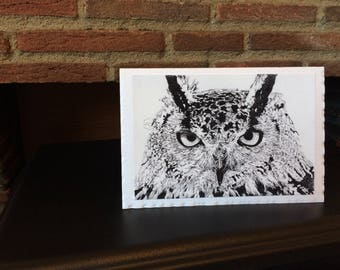 Handmade Card | Art Print | 'Night Eyes'