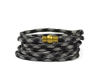 Multi Wrap Paracord in Owl Grey Bracelet