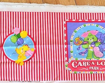 Care Bear Childs Soft Book Printed Fabric V.I.P. from Cranston Supply Silky Cotton Fabric for Childs Soft Book 3 Panels for 3 Books