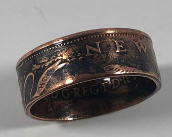 Size 4-9 British New Pence Coin Ring