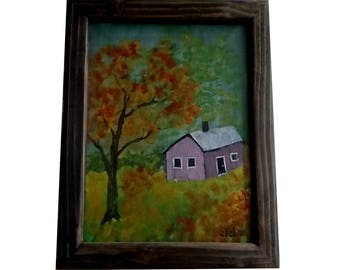 Autumn Scene with frame