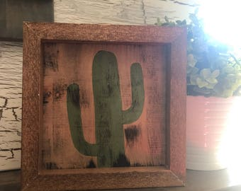 Cactus farmhouse sign