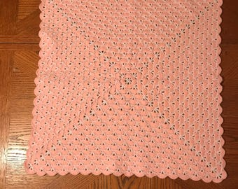 Knitted baby's blanket