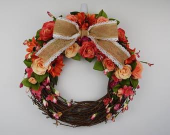 Vibrant Pink Wreath