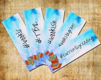 5 Printable Bookmarks // Hashtag // Bookstagram // Booklr