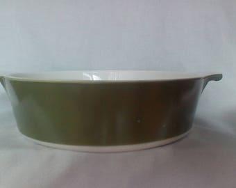 Vintage Corning Ware Casserole Dish  Avocado Green, P-701-B 1 qt